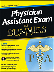 Physician Assistant Exam for Dummies front cover