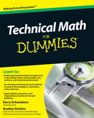 Technical Math for Dummies front cover